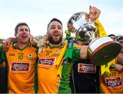 17 March 2019; Micheál Lundy, left, and Gary Sice of Corofin celebrate with The Andy Merrigan Cup following the AIB GAA Football All-Ireland Senior Club Championship Final match between Corofin and Dr Crokes at Croke Park in Dublin. Photo by Harry Murphy/Sportsfile