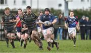 17 March 2019; Dylan Quinn of Longford RFC in action against Kilkenny RFC during the Bank of Ireland Leinster Provincial Towns Cup Quarter-Final match between Longford RFC and Kilkenny RFC at Longford RFC in Longford. Photo by Matt Browne/Sportsfile