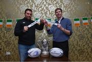 17 March 2019; David Matthews, left, Vice President of Kilkenny RFC draws Wicklow RFC and Paul Trueick President of Longford RFC draws Longford RFC during the Bank of Ireland Leinster Provincial Towns Cup Semi-Final Draw at Longford RFC in Longford. Photo by Matt Browne/Sportsfile