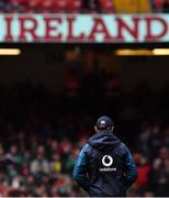 16 March 2019; Ireland head coach Joe Schmidt prior to the Guinness Six Nations Rugby Championship match between Wales and Ireland at the Principality Stadium in Cardiff, Wales. Photo by Brendan Moran/Sportsfile