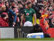 16 March 2019; Rob Kearney of Ireland leaves the pitch after being substituted during the Guinness Six Nations Rugby Championship match between Wales and Ireland at the Principality Stadium in Cardiff, Wales. Photo by Brendan Moran/Sportsfile