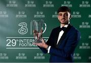 17 March 2019; Under 16 International Player of the Year Troy Parrott with his award during the Three FAI International Awards at RTE Studios in Donnybrook, Dublin. Photo by Seb Daly/Sportsfile