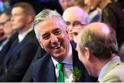 17 March 2019; John Delaney, CEO, Football Association of Ireland, at the Three FAI International Awards at RTE Studios in Donnybrook, Dublin. Photo by Stephen McCarthy/Sportsfile