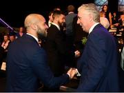 17 March 2019; Darren Randolph of Republic of Ireland, left, and John Delaney, CEO, Football Association of Ireland, at the Three FAI International Awards at RTE Studios in Donnybrook, Dublin. Photo by Stephen McCarthy/Sportsfile