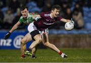 2 March 2019; Antaine Ó Laoí of Galway in action against Diarmuid O'Connor of Mayo during the Allianz Football League Division 1 Round 5 match between Mayo and Galway at Elverys MacHale Park in Castlebar, Mayo. Photo by Piaras Ó Mídheach/Sportsfile