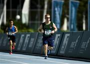 18 March 2019; Team Ireland's Alan Power, a member of the South Dublin Special Olympics Sports Club, from Wood Town, Knocklyon, Co. Dublin, on his way to winning a Bronze medal, in the 5,000m race, on Day Four of the 2019 Special Olympics World Games in the Dubai Police Officer's Club Stadium, Dubai, United Arab Emirates.  Photo by Ray McManus/Sportsfile