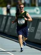 18 March 2019; Team Ireland's Alan Power, a member of the South Dublin Special Olympics Sports Club, from Wood Town, Knocklyon, Co. Dublin, races to the finish to win a Bronze medal, in the 5,000m race, on Day Four of the 2019 Special Olympics World Games in the Dubai Police Officer's Club Stadium, Dubai, United Arab Emirates.  Photo by Ray McManus/Sportsfile