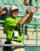 18 March 2019; Joe Power, from Wood Town, Knocklyon, Dublin, cheers on his son Team Ireland's Alan Power to win a Bronze medal, in the 5,000m race, on Day Four of the 2019 Special Olympics World Games in the Dubai Police Officer's Club Stadium, Dubai, United Arab Emirates.  Photo by Ray McManus/Sportsfile