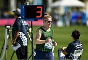18 March 2019; Team Ireland's Alan Power, a member of the South Dublin Special Olympics Sports Club, from Wood Town, Knocklyon, Co. Dublin, on his way to win a Bronze medal, in the 5,000m race, on Day Four of the 2019 Special Olympics World Games in the Dubai Police Officer's Club Stadium, Dubai, United Arab Emirates.  Photo by Ray McManus/Sportsfile