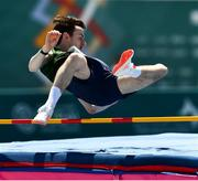 18 March 2019; Team Ireland's Conor Meade, a member of the Blackrock Flyers Special Olympics Club, from Blackrock, Co. Dublin, during the High Jump element of the Pentathlon on Day Four of the 2019 Special Olympics World Games in the Dubai Police Officer's Club Stadium, Dubai, United Arab Emirates.  Photo by Ray McManus/Sportsfile