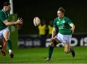 15 March 2019; Liam Turner of Ireland, right, passes the ball to team-mate Sean French, which was ruled to be forward by referee Christophe Ridley, after a TMO, review, which meant the resulting try from Angus Kernohan of Ireland was not given, in the second half, during the U20 Six Nations Rugby Championship match between Wales and Ireland at Zip World Stadium in Colwyn Bay, Wales. Photo by Piaras Ó Mídheach/Sportsfile