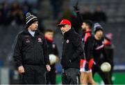 16 March 2019; Tyrone manager Mickey Harte, right, and selector Gavin Devlin before the Allianz Football League Division 1 Round 6 match between Dublin and Tyrone at Croke Park in Dublin. Photo by Piaras Ó Mídheach/Sportsfile