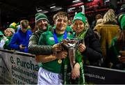 15 March 2019; Liam Turner of Ireland celebrates with his father Andrew and mother Julie after the U20 Six Nations Rugby Championship match between Wales and Ireland at Zip World Stadium in Colwyn Bay, Wales. Photo by Piaras Ó Mídheach/Sportsfile