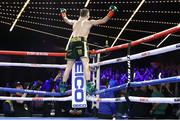 17 March 2019; Michael Conlan celebrates defeating Ruben Garcia Hernandez in their featherweight bout at the Madison Square Garden Theater in New York, USA. Photo by Mikey Williams/Top Rank/Sportsfile