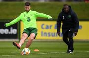 18 March 2019; Shane Long during a Republic of Ireland training session at the FAI National Training Centre in Abbotstown, Dublin. Photo by Stephen McCarthy/Sportsfile