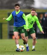 18 March 2019; Josh Cullen, left, and Alan Judge during a Republic of Ireland training session at the FAI National Training Centre in Abbotstown, Dublin. Photo by Stephen McCarthy/Sportsfile