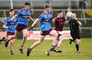 19 March 2019; Aodhan McConnell Omagh CBS in action against Brandon Horan St Michael's Enniskillen during the Danske Bank MacRory Cup Final match between St Michael's Enniskillen and Omagh CBS at the Athletic Grounds in Armagh. Photo by Oliver McVeigh/Sportsfile