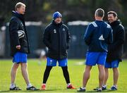 18 March 2019; The Leinster coaching team, from left, head coach Leo Cullen, backs coach Felipe Contepomi, senior coach Stuart Lancaster and scrum coach John Fogarty during Leinster Rugby squad training at Rosemount in UCD, Dublin. Photo by Ramsey Cardy/Sportsfile