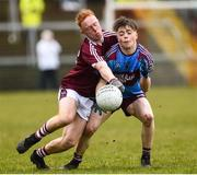 19 March 2019; Tom Keenan of St Michael's Enniskillen in action against Cormac McBride of Omagh CBS during the Danske Bank MacRory Cup Final match between St Michael's Enniskillen and Omagh CBS at the Athletic Grounds in Armagh. Photo by Oliver McVeigh/Sportsfile