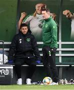 19 March 2019; Shane Long, left, and assistant coach Robbie Keane during a Republic of Ireland training session at the FAI National Training Centre in Abbotstown, Dublin. Photo by Stephen McCarthy/Sportsfile
