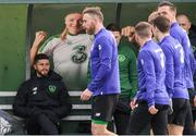 19 March 2019; Shane Long during a Republic of Ireland training session at the FAI National Training Centre in Abbotstown, Dublin. Photo by Stephen McCarthy/Sportsfile