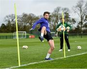 19 March 2019; Harry Arter during a Republic of Ireland training session at the FAI National Training Centre in Abbotstown, Dublin. Photo by Stephen McCarthy/Sportsfile