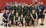 19 March 2019; Team Ireland players and officials after they were beaten by SO Switzerland during the Male / Mixed Playoff Round 1 Basketball game on Day Five of the 2019 Special Olympics World Games in the Abu Dhabi National Exhibition Centre, Abu Dhabi, United Arab Emirates. Photo by Ray McManus/Sportsfile