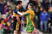 17 March 2019; Eoin Brosnan of Dr. Crokes' shakes hands with Ciarán McGrath of Corofin after the AIB GAA Football All-Ireland Senior Club Championship Final match between Corofin and Dr Crokes' at Croke Park in Dublin. Photo by Piaras Ó Mídheach/Sportsfile