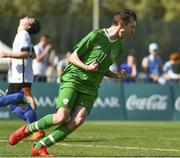 19 March 2019; Team Ireland's Brian O'Sullivan, a member of Limerick Celtic, from Rathkeale, Co. Limerick, celebrates scoring the third goal as Team Ireland beat SO Estonia 7-2 to take the Bronze medal place on Day Five of the 2019 Special Olympics World Games in Zayed Sports City, Airport Road, Abu Dhabi, United Arab Emirates. Photo by Ray McManus/Sportsfile