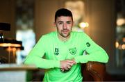 19 March 2019; Enda Stevens of Republic of Ireland poses for a portrait during a squad portrait session at their team hotel in Dublin. Photo by Stephen McCarthy/Sportsfile