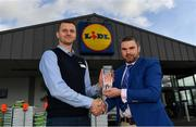 19 March 2019; The Lidl / Irish Daily Star Manager of the Month for February was announced today as Gerry McGill from Carlow. Gerry has masterminded a 100 per cent record to date for Carlow in Division 4 of the 2019 Lidl Ladies National Football League. In February, Carlow won all three of their matches, against Kilkenny, Limerick and Derry. Gerry was presented with his award by Mateusz Maksymyiuk, Store Manager, at the Lidl store on Tullow Road in Carlow. Photo by Ramsey Cardy/Sportsfile