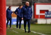 16 March 2019; Shelbourne coach Pat Behan during the Só Hotels Women's National League match between Shelbourne and Limerick at Tolka Park in Dublin.  Photo by Piaras Ó Mídheach/Sportsfile