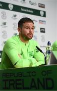 20 March 2019; Alan Judge during a Republic of Ireland press conference at the FAI National Training Centre in Abbotstown, Dublin. Photo by Stephen McCarthy/Sportsfile