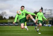 20 March 2019; Robbie Brady, left, and James McClean during a Republic of Ireland training session at the FAI National Training Centre in Abbotstown, Dublin. Photo by Stephen McCarthy/Sportsfile