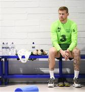20 March 2019; James McClean relaxes prior to a Republic of Ireland training session at the FAI National Training Centre in Abbotstown, Dublin. Photo by Stephen McCarthy/Sportsfile