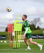 20 March 2019; Conor Hourihane during a Republic of Ireland training session at the FAI National Training Centre in Abbotstown, Dublin. Photo by Stephen McCarthy/Sportsfile