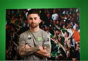 20 March 2019; Sean Maguire of Republic of Ireland poses for a portrait during a squad portrait session at their team hotel in Dublin. Photo by Stephen McCarthy/Sportsfile