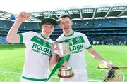 17 March 2019; Evan Shefflin, left, and TJ Reid of Ballyhale Shamrocks celebrate with the cup after the AIB GAA Hurling All-Ireland Senior Club Championship Final match between Ballyhale Shamrocks and St Thomas' at Croke Park in Dublin. Photo by Piaras Ó Mídheach/Sportsfile