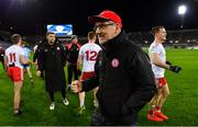 16 March 2019; Tyrone manager Mickey Harte celebrates after the Allianz Football League Division 1 Round 6 match between Dublin and Tyrone at Croke Park in Dublin. Photo by Piaras Ó Mídheach/Sportsfile