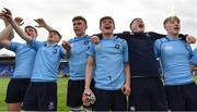 20 March 2019; St Michael's College players celebrate after the Bank of Ireland Leinster Schools Junior Cup Final match between Blackrock College and St Michael's College at Energia Park in Donnybrook, Dublin. Photo by Piaras Ó Mídheach/Sportsfile