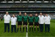 17 March 2019; Referee Fergal Horgan and his officials before the AIB GAA Hurling All-Ireland Senior Club Championship Final match between Ballyhale Shamrocks and St Thomas' at Croke Park in Dublin. Photo by Harry Murphy/Sportsfile