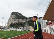 22 March 2019; Tjay De Barr during a Gibraltar training session at Victoria Stadium in Gibraltar. Photo by Stephen McCarthy/Sportsfile