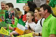 22 March 2019; Supporters of Eimar Gannon wait for the return of Team Ireland athletes from the 2019 World Summer Games Abu Dhabi at Dublin Airport in Dublin. Photo by Ray McManus/Sportsfile