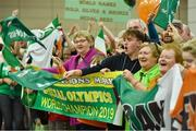 22 March 2019; Supporters wait for the return of Team Ireland athletes from the 2019 World Summer Games Abu Dhabi at Dublin Airport in Dublin. Photo by Ray McManus/Sportsfile