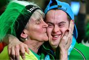 22 March 2019; Team Ireland's Stephen Murphy, a member of the Palmerstown Wildcats Special Olympics Club, from Lucan, Co. Dublin, is welcomed home by his mother Theresa on his return from the 2019 World Summer Games Abu Dhabi at Dublin Airport in Dublin Photo by Ray McManus/Sportsfile