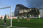 22 March 2019; Kevin Long, right, and Mark Travers, left, during a Republic of Ireland training session at Victoria Stadium in Gibraltar. Photo by Stephen McCarthy/Sportsfile