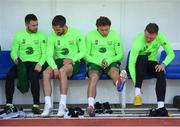 22 March 2019; Republic of Ireland players, from left, Alan Judge, Conor Hourihane, Jeff Hendrick and Aiden O'Brien during a Republic of Ireland training session at Victoria Stadium in Gibraltar. Photo by Stephen McCarthy/Sportsfile