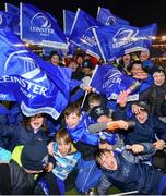 22 March 2019; Leinster supporters from St Mary's College Junior School ahead of the Guinness PRO14 Round 18 match between Edinburgh and Leinster at BT Murrayfield Stadium in Edinburgh, Scotland. Photo by Ramsey Cardy/Sportsfile