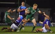 22 March 2019; Darragh Leader of Connacht is tackled by Ian McKinley of Benetton Rugby during the Guinness PRO14 Round 18 match between Connacht and Benetton Rugby at The Sportsground in Galway. Photo by Brendan Moran/Sportsfile