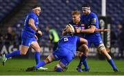 22 March 2019; Jaco van der Walt of Edinburgh is tackled by Mick Kearney and Josh Murphy of Leinster during the Guinness PRO14 Round 18 match between Edinburgh and Leinster at BT Murrayfield Stadium in Edinburgh, Scotland. Photo by Ramsey Cardy/Sportsfile